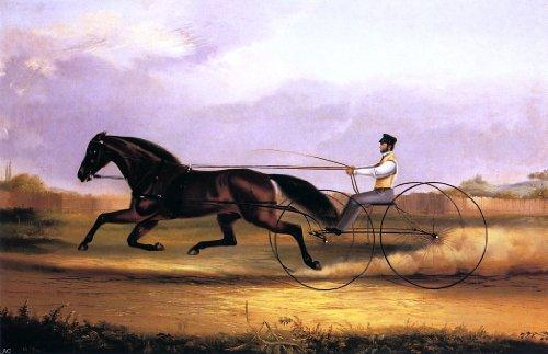 """Thomas Kirby Van Zandt A Fast Trotter - 18"""" X 27"""" Premium Canvas Print"""