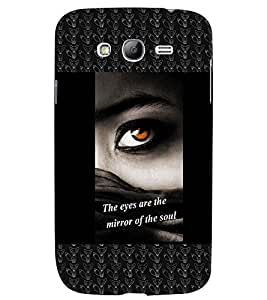 Fuson 3D Printed Quotes Designer back case cover for Samsung Galaxy Grand Neo I9060 - D4132