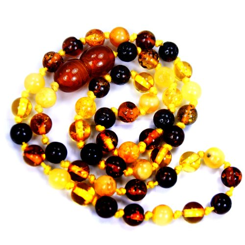 The Silver Plaza Natural Healing Baltic Amber Necklace