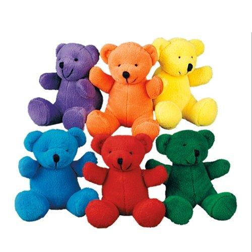 Plush Bears - Primary Colors - 12 per order