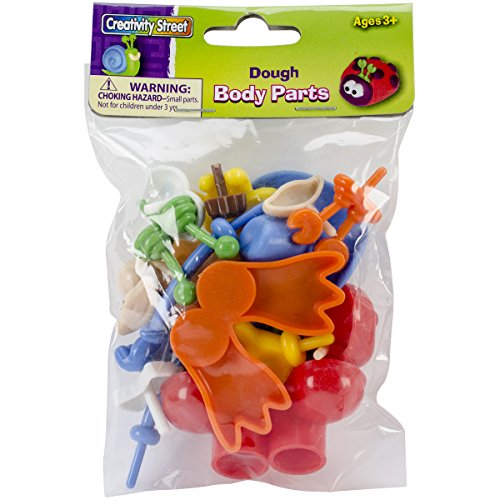 Creativity Street Modeling Dough and Clay Body Parts, Assorted