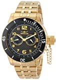"""Invicta Men's 14888 """"Specialty"""" 18k Gold Ion-Plated Watch"""