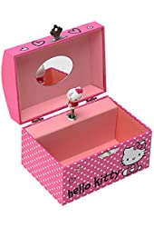Hello Kitty  Paper Jewelry Box W/ Music In Color Box