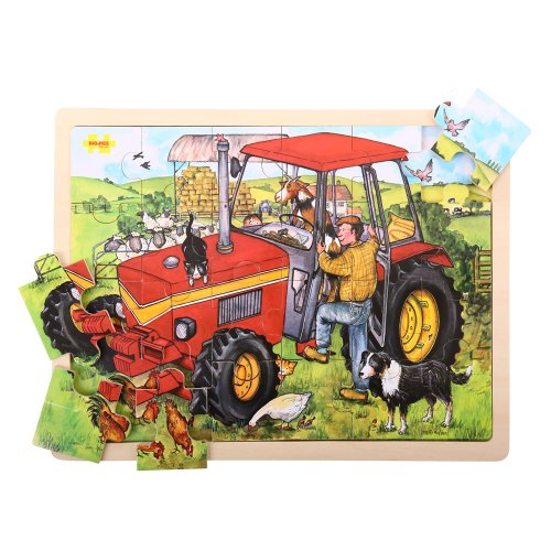 Bigjigs Toys Bj744 Tray Puzzle Tractor