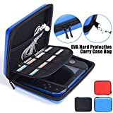 Nintendo 2DS Case with Game Storage, LinkStyle Nintendo 2DS Hard EVA Carrying Case Cover Bag Protective Travel Storage Cover Pouch with 8 Game Holders Double Zipper for Nintendo 2DS (Blue)