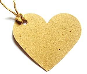 Amazon Wedding Gift Tags : 10 Kraft Brown Heart Shaped Gift Tags / Wedding Favour Tags100% ...