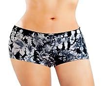 Anigan StainFree Seamless Boyshort Tie Dyed Menstrual Period Panty - Black - Medium