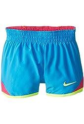 Nike Little Girls' 1 Piece Blue Dri-Fit Athletic Shorts