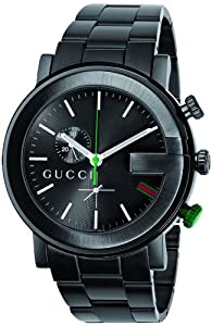 Gucci Men's YA101331 G-Chrono Black PVD Guilloche Watch