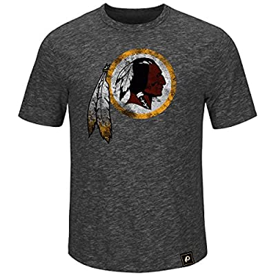 Washington Redskins Hyper Logo Heathered Charcoal T-shirt