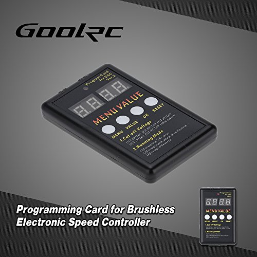 Goolrc Programming Card For Brushless Electronic Speed Controller Vehicles Parts Vehicle Parts