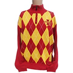 NCAA Iowa State Cyclones Argyle Sweater, XX-Large by Donegal Bay