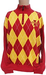 NCAA Iowa State Cyclones Argyle Sweater, Small by Donegal Bay