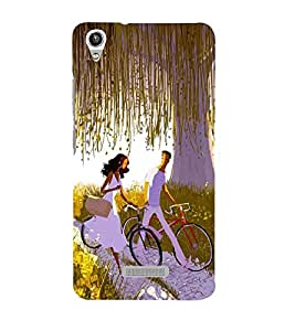 Vizagbeats bicycling lovers Back Case Cover for Lava Pixel V1