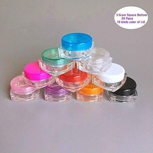 akoak-20-piezas-5-g-cosmeticos-contenedores-pot-tarros-claro-cuadrado-parte-inferior-tapa-de-multico