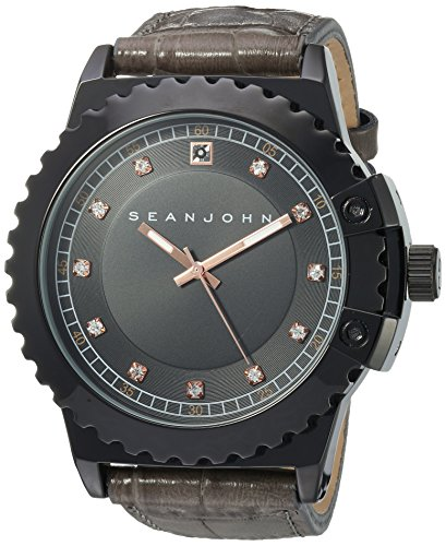 Sean-John-Mens-Diamond-Quartz-Metal-Casual-Watch-ColorGrey-Model-10030886