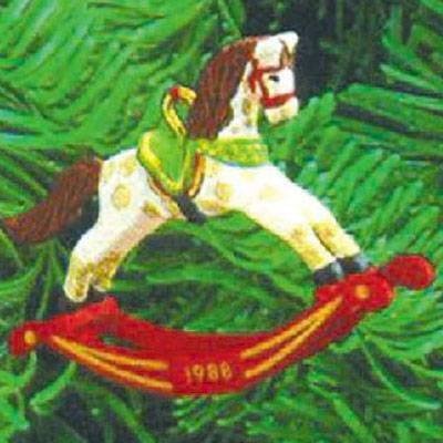 Vintage Hallmark Keepsake Christmas Ornament Rocking Horse 1988 New in Box