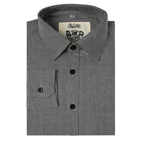 The-Cotton-Company-Mens-Signature-Oxford-Chambray-Shirt
