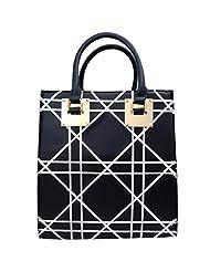 Super Drool Black P.U. Shoulder Bag