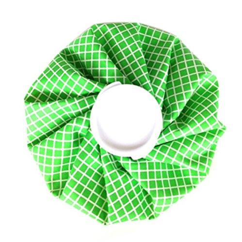アイシングバッグ (氷のう) 熱中症対策 家庭常備品 (緑系)