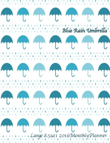 Blue Rain Umbrella (Rain Calendar 2015 compare prices)