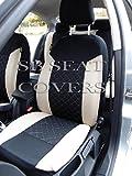 Daihatsu Sirion / Grand Move / Terios 2 Car Seat Covers Beige Diamond Stitch Full Set SBCSC210