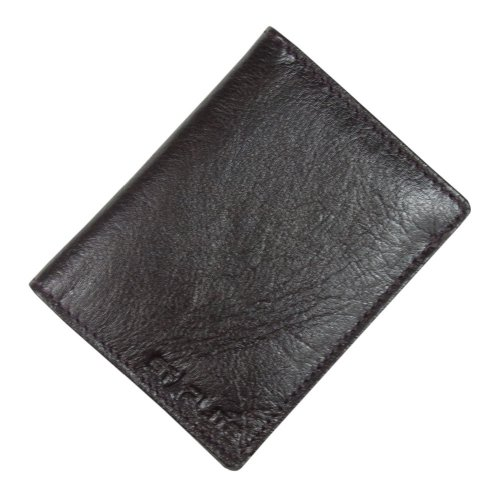 Gents Brown Real Leather Wallet Case With Credit Card & Coin Slot-WLT339005-FREE SHIPPING
