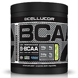 Cellucor BCAA Supplement, Lemon Lime, 30 Servings