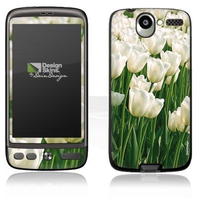 Design Skins für HTC Desire - White Tulip Design Folie