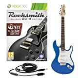 Rocksmith 2014 Xbox 360 + LA Electric Guitar Blue