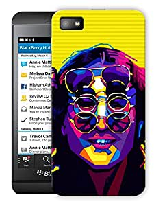 "John Lennon - The Beatles - Trippy Printed Designer Mobile Back Cover For ""Blackberry Z10"" By Humor Gang (3D, Matte Finish, Premium Quality, Protective Snap On Slim Hard Phone Case, Multi Color)"