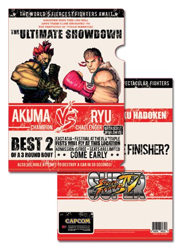 Super Street Fighter IV Akuma Vs Ryu File Folder