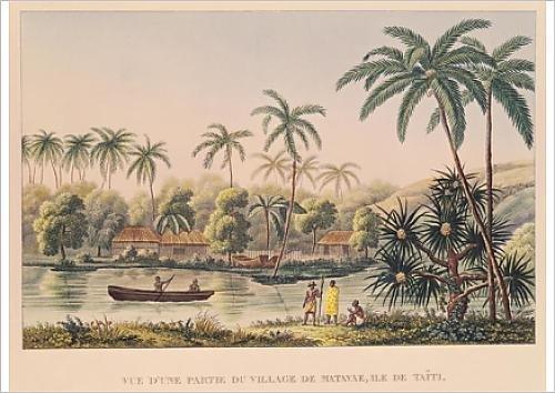 fine-art-print-of-village-of-matavae-tahiti-illustration-from-voyage-autour-du-monde-sur-la