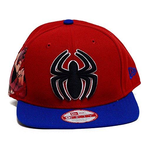 New Era 9fifty Hat Hero Sider Spiderman Red/royal Blue Snapback Cap
