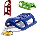 Strong plastic sledge with metal runn...