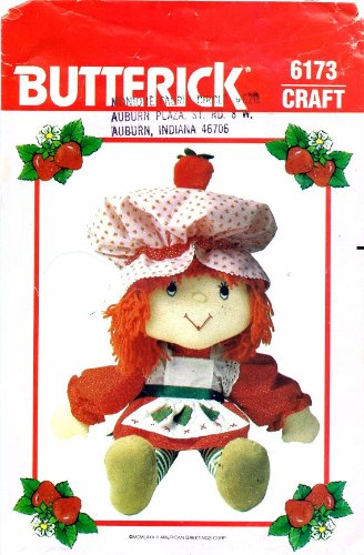 Butterick 6173 Crafts Sewing Pattern Strawberry Shortcake Doll & Clothes