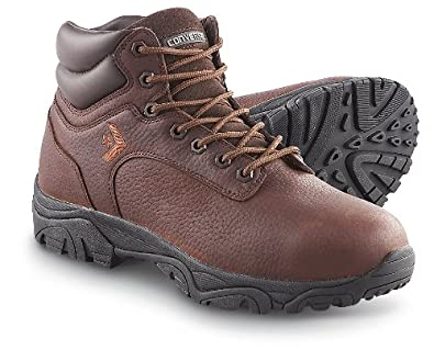 "Men's Converse 6"" Waterproof Steel Toe Work Boots Dark Brown, BROWN, 10W"