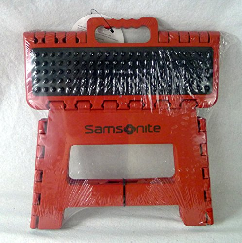 Samsonite Mini Folding Step Stool Red And Black Hardware