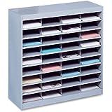 Safco Products 9221GRR E-Z Stor Literature Organizer, 36 Letter Size Compartments, Gray