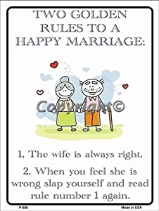 Two golden rules to a happy marriage parking for Golden rule garage door
