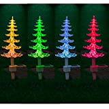 SOLAR-POWERED COLOUR CHANGING CHRISTMAS TREE WITH LIGHTS XMAS