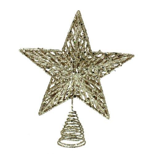 gisela-graham-christmas-gold-glitter-tree-top-star-topper