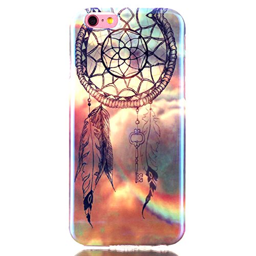 Urberry Iphone 6s Case, [Colorful Dream Catcher Design] [Blue Light] Protective TPU Gel Case for Iphone 6 / 6s with Screen Protector