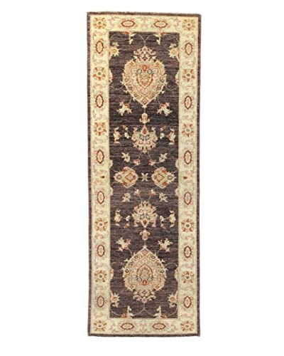 Bashian Rugs Hand Knotted Mansehra, Chocolate, 2' x 6' Runner