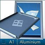 DIN A1 Alu Klapprahmen Plakatrahmen Wechselrahmen Bilderrahmen Ladeneinrichtung Silber Aluminium