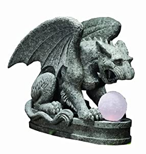 Russ Berrie SG-1396 Night Guardian Gargoyle Solar Statuary (Discontinued by Manufacturer)