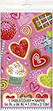 Plástico Sweet Valentines Mantel, 7 ft x 4.5 ft