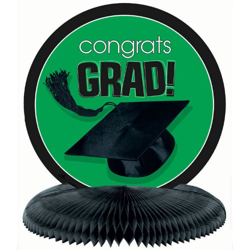 Amscan - Congrats Grad Green Graduation Centerpiece