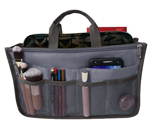 RW Collections Handbag Organizer, Liner, Sturdy Nylon Purse Insert (Extra Large, Grey) (Call Inserts compare prices)