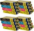 16 CiberDirect Compatible Ink Cartridge Replacements for Epson T0715 (T0711-4 multipack).